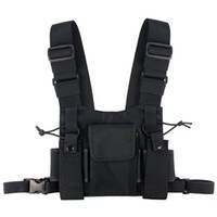Wholesale Abbree Radio Chest Harness Chest Front Pack Pouch Holster Vest Rig Carry Cade for Baofeng TYT Wouxun Motorola Walkie Talkie