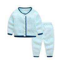 chaqueta suave de bebé al por mayor-2018 Otoño Invierno Cálido Suéter Suave Traje Newborn Cardigan Jacket Baby Knitwear