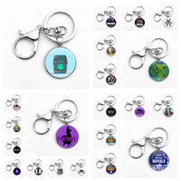 Wholesale 28 colors Game Fortnite Keychain classic gift Fortnite Key Ring Cool metal gem pendant Game Animation Accessories MMA250