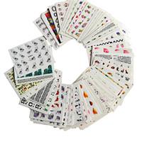 модели ногтей оптовых-2017 NEW 50sheets Mixed Water Transfer Nail Art Sticker Watermark Decal Decoration For Beauty Nail Tool Random Patterns LAM50