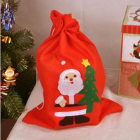 Wholesale Christmas Gift Bags Santa Sack Drawstring Bag Candy Non woven Sack Candy Gift Bag Pouch christmas Drawstring Bag KKA5854