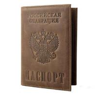 ingrosso copertine del documento-Custodie passaporto in pelle Crazy Horse vintage Custodie passaporto in vera pelle RFID Travel Document Cover Porta carte di credito 589
