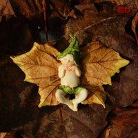 ingrosso ornamenti di fata dell'angelo-Ed Design originale Cute Sleeping Leaf Mini Fairy Angel Figurine Bella resina Angel Doll Garden Ornament Decorazioni natalizie