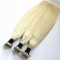 1 g de pelo de punta de palo al por mayor-ELIBESS HAIR -Keratin I Stick Tip Extensiones de Cabello 1g / strand 100 hilos / lot Prebonded Human Hairs