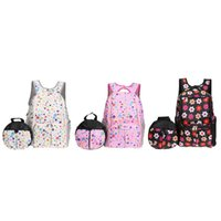 bag for mommy 2018 - 2pcs set Multi-functional Mom Backpack Large Baby Diaper Storage Bag Kids Anti-lost Bag Mommy Nappy Organizer for Stroller