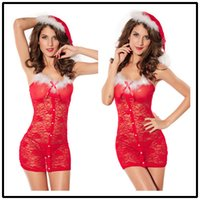 Wholesale Adult See Through Dresses - European and American adult sexy underwear Christmas performance sexy Nightie pivot Skirt Adult Sex adult game Maid Dress