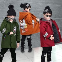 ingrosso ragazzi allineati giacca invernale-New Boys Winter Coat Moda Single Baby Boy Jacket fodera in cotone per bambini Warm Jacket Jacket Ragazzi Kids Capispalla CA418