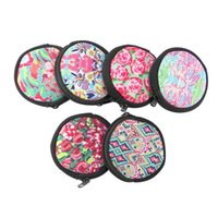 Wholesale coin purse for sale - Neoprene Lilly Pulitzer Small Coin Purse Women Round Printed Wallet Coin Storage Bag With Zipper OOA5397