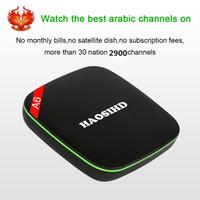 Wholesale arabic iptv box free tv online - Free forever HAOSIHD A6 Arabic IPTV box free tv no monthly fee free HD Arabic Europe Africa America live tv