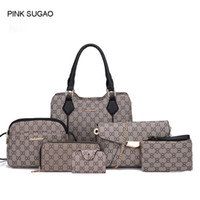 Wholesale fashion stone bags online - Pink sugao purses and handbags for women new style set color pu leather Sac à main tote bag crossbody shoulder bag purse