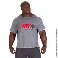 trapos ropa al por mayor-Mens Gym Marca de ropa Camisetas de hombre Golds Fitness Men Bodybuilding Gorila Use camisa Batwing manga Trapo Tops Camiseta corriente