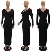 Wholesale knitting round dresses for sale - Women Autumn Winter Sweater Knitted Dresses Slim Elastic Round Neck Long Sleeve Sexy Lady Bodycon Robe Dresses Vestidos