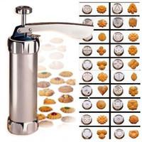 keksmacher kekspresse großhandel-20 Blume Cookie Kekse Form Pressmaschine Kuchen Dekorieren Keks Maker Set Backen Gebäck Werkzeuge Plätzchenform Küche Werkzeuge