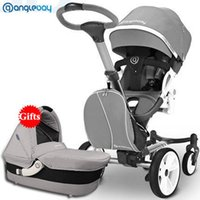 Wholesale new fashion strollers resale online - 0 New Arrival Fashion High Landscape High quality Suspension Sit or Lie Down Folding Two Direction Baby Stroller Pram