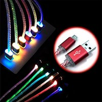 Wholesale packaging for mobile chargers for sale – best LED Flash Light USB Cable Mobile Phone Charger Charger Line For Samsung Android Phones With Retail Package