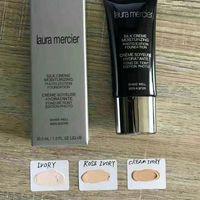 Wholesale full base - Laura Mercier Foundation Silk Cream Moisturizing 3 Colors High Quality Face Makeup SPF 30ml Base Primer Free Shipping 1pc