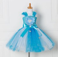 Wholesale dance costume girls - Girls Costume Children Party Dresses Girl sleeve-less lace tutu dress girl dance dress Festival princess costume
