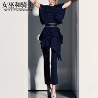 Ladies' Pants Suit, Fashion Two Piece Sets Woman, 2018 New Women's Dress, Retro Port Flavor Design Free Shipping