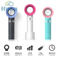mini taşınabilir el fanları toptan satış-Zero9 USB Bladeless Fan Şarj Edilebilir Taşınabilir El Mini Soğutucu Hiçbir Yaprak Handy Fan Ile 3 Fan Hızı Seviyesi LED Göstergesi