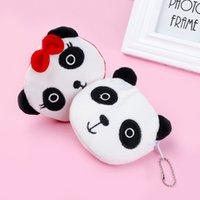 panda münze geldbörse niedlich großhandel-Cute panda form plüsch geldbörse unisex brieftaschen reißverschluss tasche für kinder kinder geschenk geldbörse