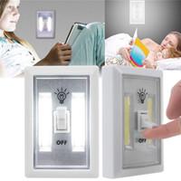ingrosso luci a parete portatili senza fili-Luci di notte a LED per interruttori a batteria a luce magnetica per interruttori a incasso a LED COB Interruttore di emergenza per camper