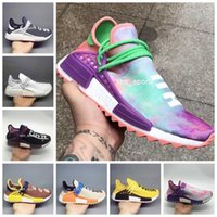 Wholesale mens trail running shoes for sale - 2018 NMD Human Race Pharrell Williams Hu Trail Holi Mens Women Running Shoe High Quality Human Races Trainers Sports Sneakers Size