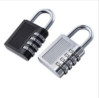 Wholesale luggage locks - 4 Digit Combination Password Lock Security Suitcase Luggage Coded Lock Cupboard Cabinet Metal Password Lock KKA5112