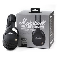 Wholesale bluetooth wireless monitor - Marshall Monitor Bluetooth Headphones Deep Bass DJ Hifi Headset Professional Studio Noise Cancelling Sport Earphone Headband with Retail Box