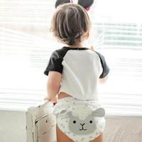 ingrosso tovaglioli di pasqua-Bambino che impara pantaloni a prova di pannolino cotone traspirante lavabile bambini neonati pantaloni di formazione pannolini tovagliolo tovaglioli di cotone caldo