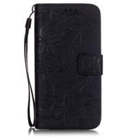 флип-кисть оптовых-для LG K7 G5 телефон case мягкий tpu флип кожаный чехол тиснением pattern бабочка цветок Магнит пряжки слот для карты кисть Фолио стенд case