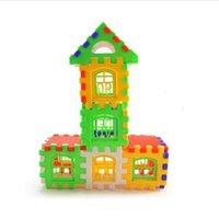 jogo de construção venda por atacado-24 pcs Casa Do Bebê Blocos de Construção de Construção Toy Kids Brain Game Aprendizagem Brinquedos Educativos Para Crianças