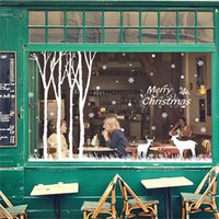 etiquetas da janela do feliz natal venda por atacado-Ano Novo Feliz Natal Adesivos de Parede Para Casa Loja de Janelas Adesivos de parede Living Home Decor Para Quartos