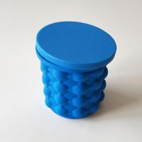 пресс-форма горячего льда оптовых-Горячей! Сохранение Ice Cube Maker Genie Силиконовый Чайник Инструмент Волшебная Форма Лед Ведра Путешествия Праздничные Атрибуты Кухня Столовая Бар Инструменты с Розничной Коробке