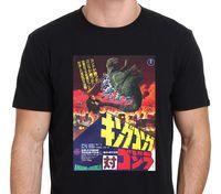 cartel japon al por mayor-Camiseta King Kong Vs Godzilla Classic Japan Rare Poster Talla de Hombre: S-to-XXL