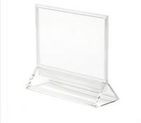 Wholesale Label Frame - A6 ps transparent poster menu signage label holder frame desktop stand tabletop
