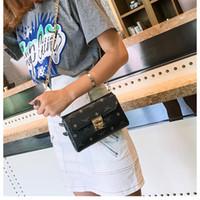 bayanlar pembe cüzdanlar toptan satış-Yeni kadın zincir kilit baskı omuz çantaları bayan moda crossbody messenger çantalar kadın gündelik akşam siyah / pembe / kahverengi renk no107