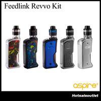 Wholesale arc kit - Authentic Aspire Feedlink Revvo Kit 80W Squonk Mod 2ml Revvo Boost Vaporizer Tank ARC Coil E Cigarette Vape Kit 100% Original