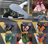 Wholesale real dragons - 2018 New Arrival DRAGON BALL Human Race Factory Real Boost Yellow Red Black Orange Men Pharrell Williams X Human Race Running Shoes Sneakers