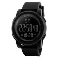 Wholesale matt electronics for sale - Black Men Sport Wrist Watch Matt Silicone Led Digital Watches New Fashion Luxury Electronic Clock Watch Hot Sale