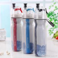 ingrosso grandi bottiglie di plastica-Doppio Big Chill freddo 17 oz bottiglia di acqua isolata con lo spruzzo di viaggio all'aperto Sport plastica potabile tazza tazza HH7-1106