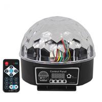 boules de cristal lumières de noël achat en gros de-DJ disco lumières digitales led RGB cristal cristal effet boule de lumière lumières disco noël stade