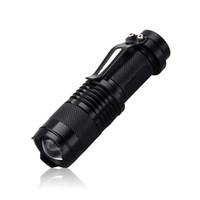 lanterna led venda por atacado-Nova Mini Lanterna 2000 Lumens CREE Q5 LEVOU Tocha Zoom Ajustável Foco Tocha Lâmpada À Prova D 'Água Para Ao Ar Livre