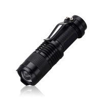 antorcha foco ajustable al por mayor-Nuevo mini linterna de 2000 lúmenes CREE Q5 LED de la antorcha ajustable del foco del zumbido de la antorcha de la lámpara al aire libre impermeable para Penlight