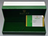 embalagem de valentine venda por atacado-Luxo Rlx Marca caixa de lápis Top Grade De Madeira De Madeira Verde Caixas com Cartão de Garantia Como o Natal de Aniversário dos Namorados Presente caixa de embalagem Melhor