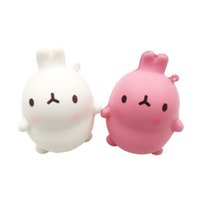 Wholesale designs games online - Squishy Slow Rising Novelty Games Toys Korean Rabbits Design Super Soft Squeeze Squishies Pu Bread Cellphone Chain Charms df W