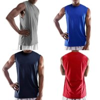 Wholesale Shooting Training - NEW 2018 outdoor summer Shooting training suit slamdunk warm-up sleeveless tank top wide shoulder GYM basketball jersey vests wade tank top