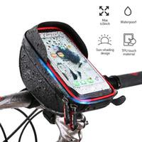 ingrosso borsa del telefono del manubrio-Borsa frontale impermeabile per bici da bicicletta per telaio bici bicicletta touch screen basket manubrio sacchetto del telefono NNA821 di alta qualità