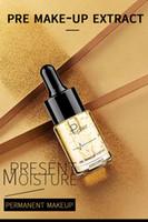 aceite caliente 24k al por mayor-Caliente Más nuevo Pudaier Pre extracto de maquillaje Primer Essence 24k Gold Face Gold Oil Moisturizer Essence Maquillaje hidratante de larga duración para la belleza