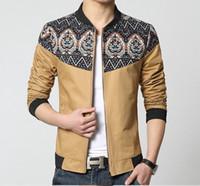 Wholesale mens wind jackets - Mens Jackets and Coats Fashion Chaqueta Hombre Jiang Autumn National Wind Jacket Male Taxi Fertilizer M-5XL