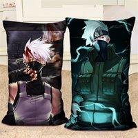 Wholesale cheap cotton pillows online - Amellor cm Anime Naruto Kakashi Itachi Sasuke D Print pillows Cushion Square linen fabric Cushion Home Cheap Pillow gifts